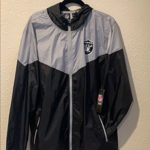 NFL Raiders Team Apparel Windbreaker!!!!